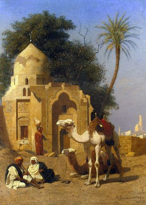 Famous paintings of Deserts: A Rest Outside the Mosque