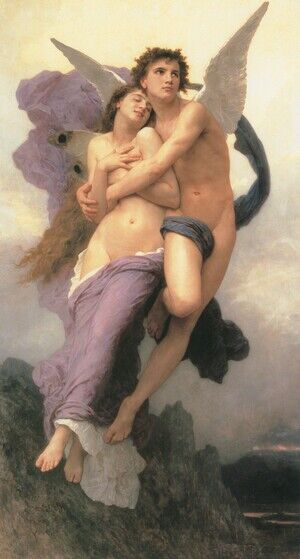 Famous paintings of Fantasy, Mythology, Sci-Fi: Le Ravissement de Psyche (The Rapture of Psyche)