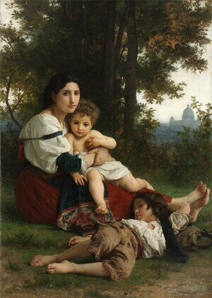 Reproduction oil paintings - William-Adolphe Bouguereau - Le Repos (Rest)