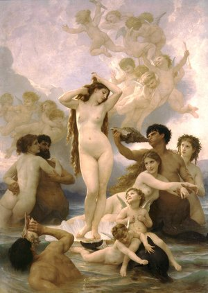 Famous paintings of Clouds & Skyscapes: Naissance de Venus (Birth of Venus)