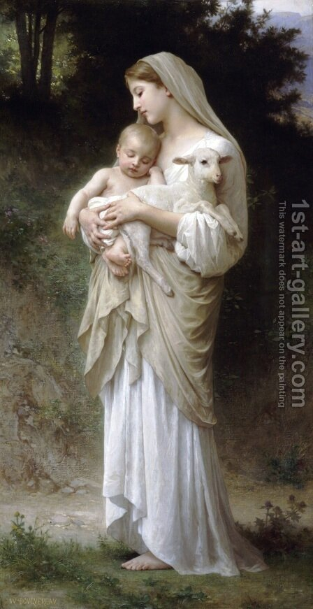 William-Adolphe Bouguereau: L'innocence (Innocence) - reproduction oil painting