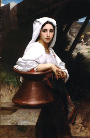 Reproduction oil paintings - William-Adolphe Bouguereau - Jeune Italienne puisant de l'eau (Italian Girl Drawing Water)