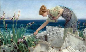 Reproduction oil paintings - Sir Lawrence Alma-Tadema - Among the Ruins