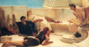 Reproduction oil paintings - Sir Lawrence Alma-Tadema - A Reading from Homer