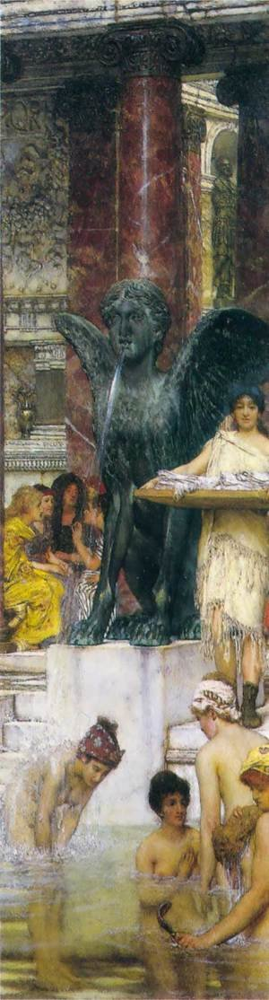 Famous paintings of Fountains: A Bath (An Antique Custom)