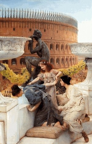 Famous paintings of Statues: The Colosseum