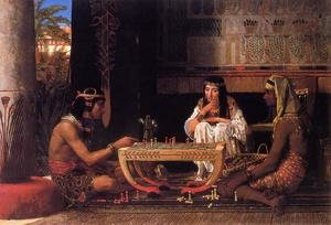 Famous paintings of Chess: Egyptian Chess Players