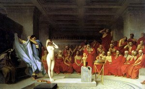 Reproduction oil paintings - Jean-Léon Gérôme - Phryné before the Areopagus