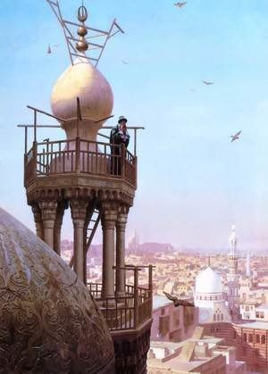 Un Muezzin Appelant du Haut du Minaret les Fidèles à la Prière (A Muezzin Calling from the Top of a Minaret the Faithful to Prayer)