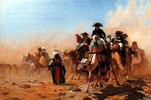 Reproduction oil paintings - Jean-Léon Gérôme - Bonaparte et son armée en Egypte (Napolean and his General Staff in Egypt)