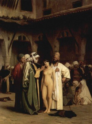 Famous paintings of Markets: Slave Market (or For Sale)