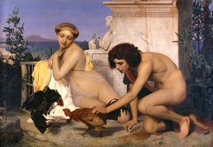 Reproduction oil paintings - Jean-Léon Gérôme - The Cock Fight
