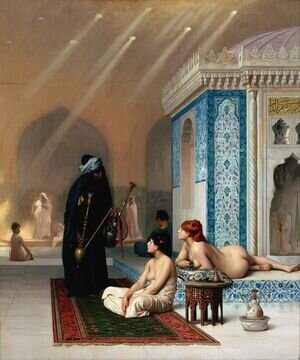 Reproduction oil paintings - Jean-Léon Gérôme - Harem Pool