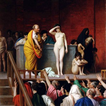 Oil painting reproductions - Academic Classicism - Jean-Léon Gérôme: Slave Auction