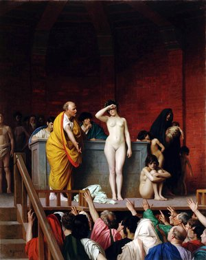 Academic Classicism painting reproductions: Slave Auction