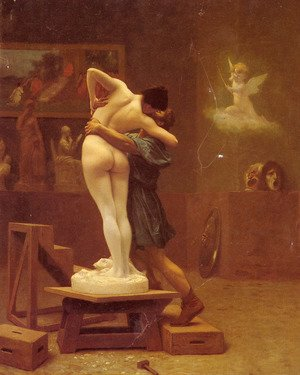 Academic Classicism painting reproductions: Pygmalion and Galatea