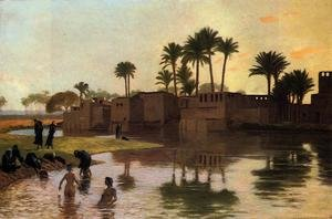 Bathers by the Edge of a River