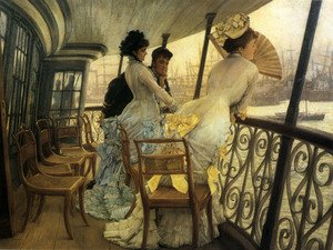 Reproduction oil paintings - James Jacques Joseph Tissot - The Gallery of H.M.S. 'Calcutta' (Portsmouth)