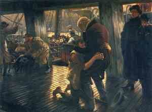Reproduction oil paintings - James Jacques Joseph Tissot - The Prodigal Son in Modern Life: The Return