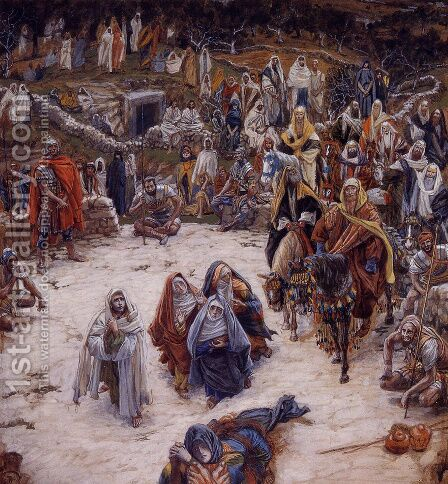 What Our Saviour Saw from the Cross (or Christ Consoling the Wanderers) by James Jacques Joseph Tissot - Reproduction Oil Painting