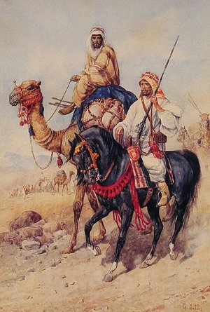Famous paintings of Camels: The Arab Caravan