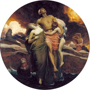 Reproduction oil paintings - Lord Frederick Leighton - 'And the sea gave up the dead which were in it'