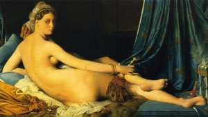 Famous paintings of Furniture: The Grande Odalisque