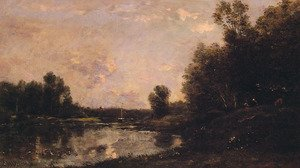 Reproduction oil paintings - Charles-Francois Daubigny - A June Day