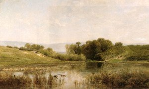 Reproduction oil paintings - Charles-Francois Daubigny - L'Etang De Gijlieu