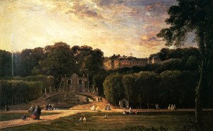 Reproduction oil paintings - Charles-Francois Daubigny - The Park At St. Cloud