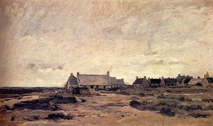 Reproduction oil paintings - Charles-Francois Daubigny - Le Village de Kerity en Bretagne