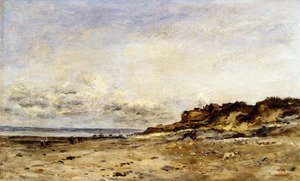 Reproduction oil paintings - Charles-Francois Daubigny - Low Tide At Villerville