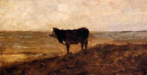 Reproduction oil paintings - Charles-Francois Daubigny - The Lone Cow