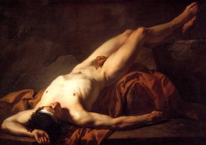 Neo-Classical painting reproductions: Male Nude known as Hector