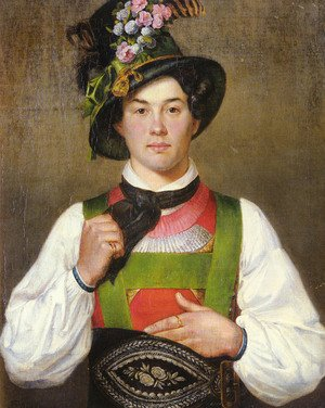 Famous paintings of Men: A Young Man In Tyrolean Costume