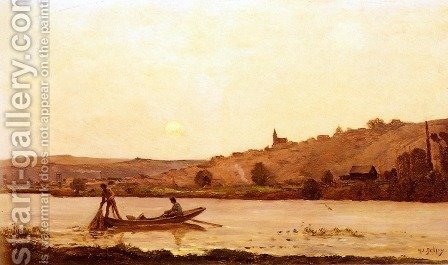 Bord De L'Oise (By the Banks of l'Oise) by Hippolyte Camille Delpy - Reproduction Oil Painting