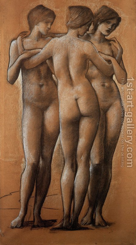 Sir Edward Coley Burne-Jones: The Three Graces - reproduction oil painting