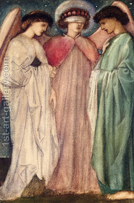 Sir Edward Coley Burne-Jones: The First Marriage - reproduction oil painting