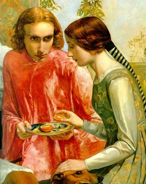 Reproduction oil paintings - Sir John Everett Millais - Lorenzo and Isabella - detail