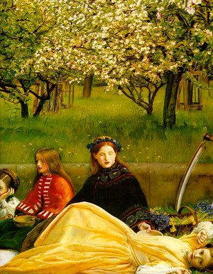 Reproduction oil paintings - Sir John Everett Millais - Apple Blossoms (Spring) - detail I