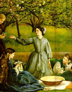 Reproduction oil paintings - Sir John Everett Millais - Apple Blossoms (Spring) - detail II