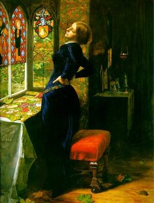 Reproduction oil paintings - Sir John Everett Millais - Mariana in the Moated Grange