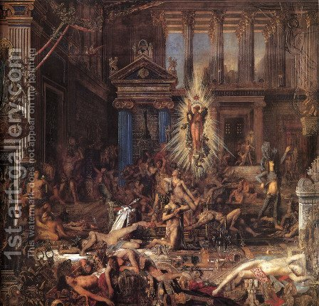 The Suitors by Gustave Moreau - Reproduction Oil Painting
