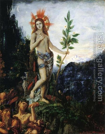 Apollo and the Satyrs by Gustave Moreau - Reproduction Oil Painting