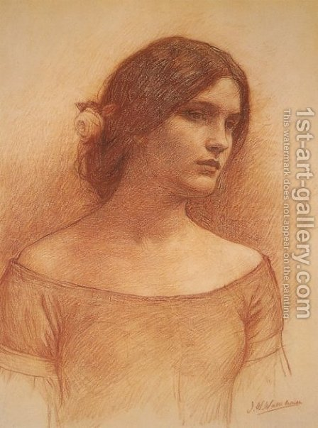 Waterhouse: Study for The Lady Clare - reproduction oil painting