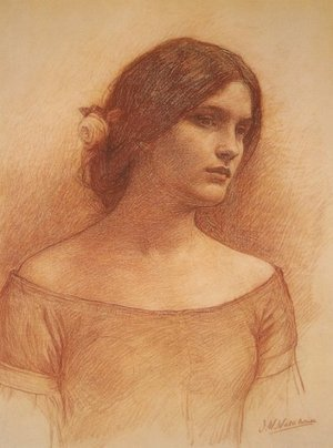Reproduction oil paintings - Waterhouse - Study for The Lady Clare