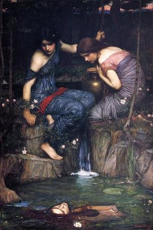 Reproduction oil paintings - Waterhouse - Nymphs finding the Head of Orpheus (or Women with Water Jugs)