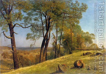 Landscape, Rockland County, California by Albert Bierstadt - Reproduction Oil Painting