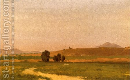 Nebraska, On the Plains by Albert Bierstadt - Reproduction Oil Painting