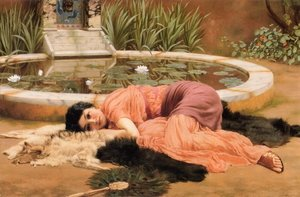 Reproduction oil paintings - John William Godward - Dolce far niente (Sweet Nothings)